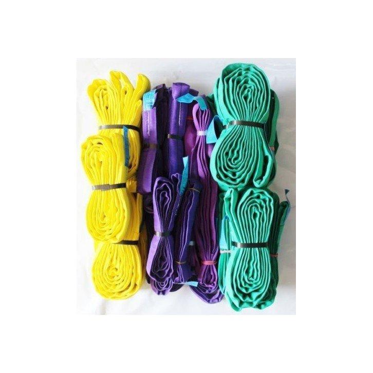 Pack 20 eslingas redondas 1.000 - 3.000 KG - muchas longitudes