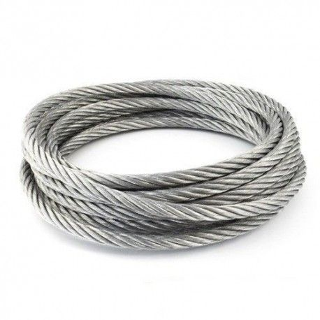 Cable de acero galvanizado 6x7+1 - 2MM
