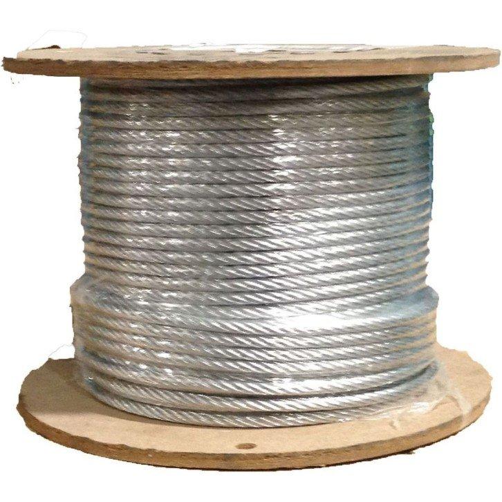 Cable de acero antigiratorio galvanizado 19x7+0 - 4MM