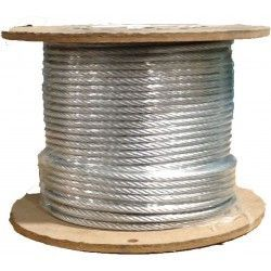 Cable de acero antigiratorio galvanizado 19x7+0 - 4MM