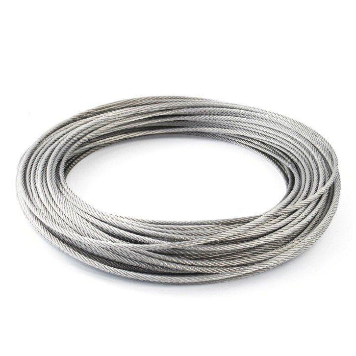 Cable de acero inoxidable AISIS-316 - 7x7+0 - 1,5MM