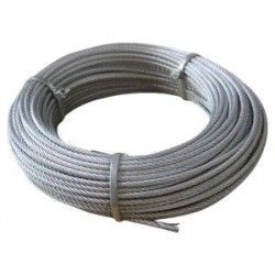 Cable de acero galvanizado 7x7+0 - 6MM