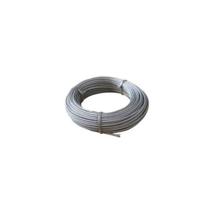 Cable de acero galvanizado 7x7+0 - 6MM
