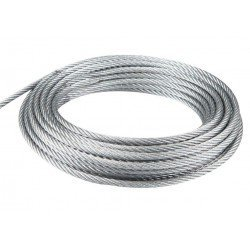 Cable de acero galvanizado 7x19+0 - 4MM