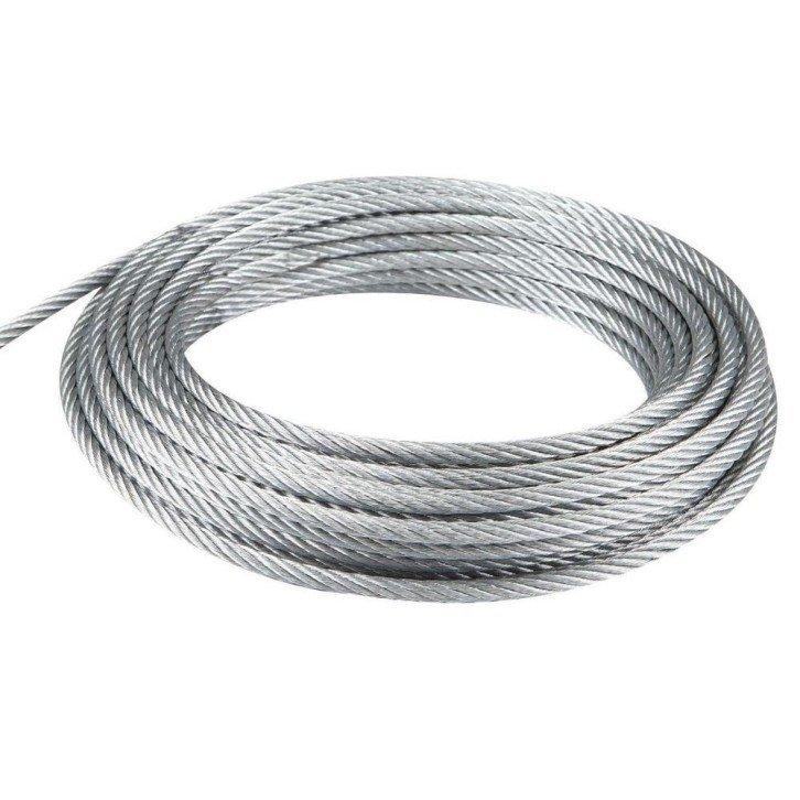 Cable de acero galvanizado 7x19+0 - 4MM