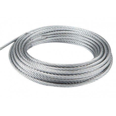 Cable de acero galvanizado 7x19+0 - 10MM